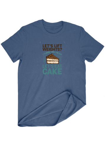 Virgin Teez T-SHIRT Let,s Lift Weight Let,s Eat Cakes T-SHIRT
