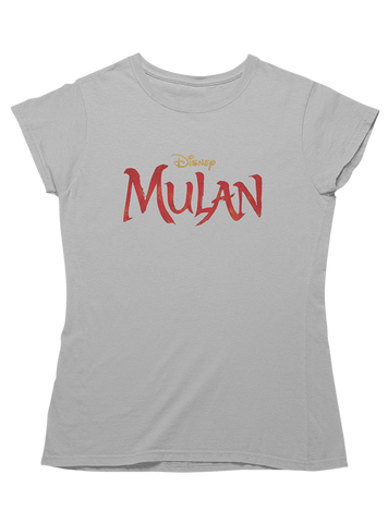 Virgin Teez T-SHIRT Mulan Live Action Logo Women T-Shirt