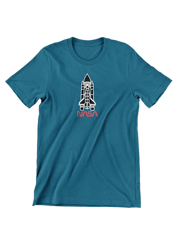 Virgin Teez T-SHIRT NASA Minimal Shuttle T-Shirt