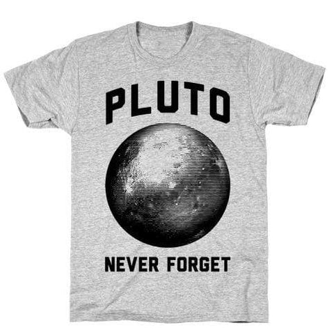 Virgin Teez T-SHIRT Pluto Never Forget T-Shirt
