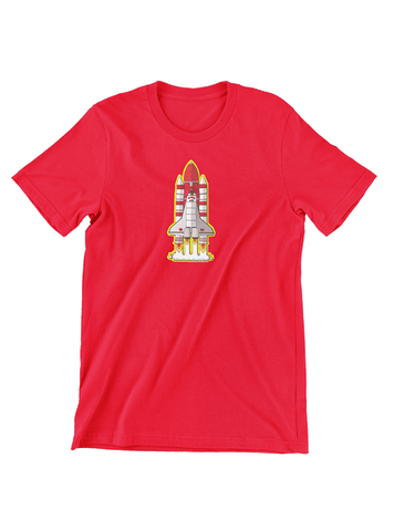 Virgin Teez T-SHIRT Rocket Space Shuttle T-Shirt