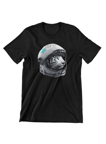 VIRGIN TEEZ T-SHIRT Small / Black Astro Tiger T-Shirt