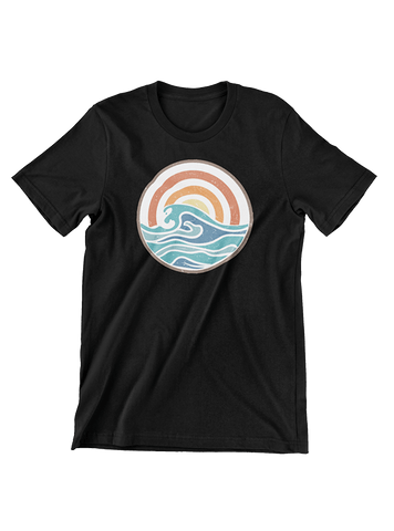 VIRGIN TEEZ T-SHIRT Small / Black Campfire Summer T-Shirt
