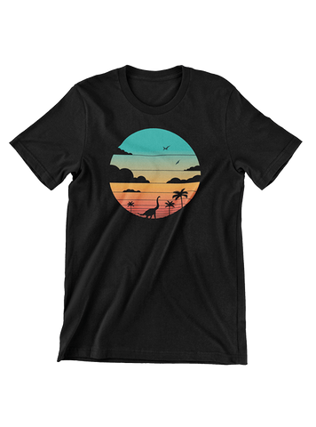 VIRGIN TEEZ T-SHIRT Small / Black Cretaceous Sunset T-Shirt