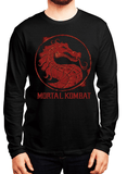 Virgin Teez T-shirt SMALL / Black Mortal Kombat Logo Full Sleeves T-shirt