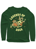Virgin Teez T-shirt SMALL / Green LEGENDS OF ROCK Full Sleeves T-shirt