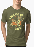 Virgin Teez T-shirt SMALL / Green LEGENDS OF ROCK Half Sleeves Melange T-shirt