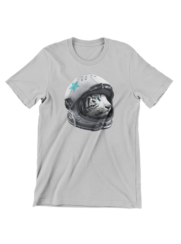 VIRGIN TEEZ T-SHIRT Small / Heather Grey Astro Tiger T-Shirt