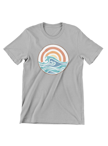 VIRGIN TEEZ T-SHIRT Small / Heather Grey Campfire Summer T-Shirt