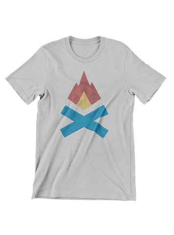 VIRGIN TEEZ T-SHIRT Small / Heather Grey Campfire T-Shirt
