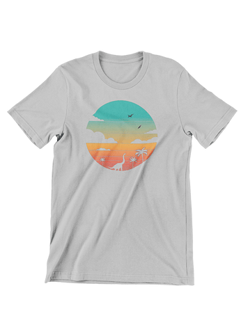 VIRGIN TEEZ T-SHIRT Small / Heather Grey Cretaceous Sunset T-Shirt
