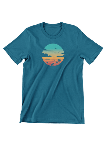 VIRGIN TEEZ T-SHIRT Small / Navy Cretaceous Sunset T-Shirt