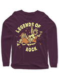 Virgin Teez T-shirt SMALL / Purple LEGENDS OF ROCK Full Sleeves T-shirt