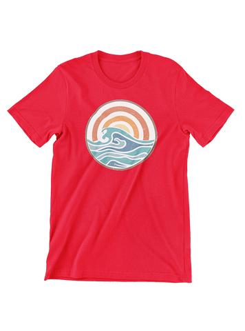VIRGIN TEEZ T-SHIRT Small / Red Campfire Summer T-Shirt