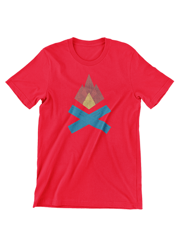 VIRGIN TEEZ T-SHIRT Small / Red Campfire T-Shirt