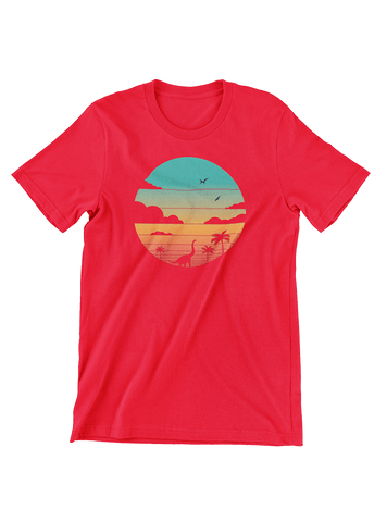 VIRGIN TEEZ T-SHIRT Small / Red Cretaceous Sunset T-Shirt