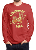 Virgin Teez T-shirt SMALL / Red LEGENDS OF ROCK Full Sleeves T-shirt