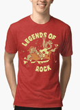 Virgin Teez T-shirt SMALL / Red LEGENDS OF ROCK Half Sleeves Melange T-shirt