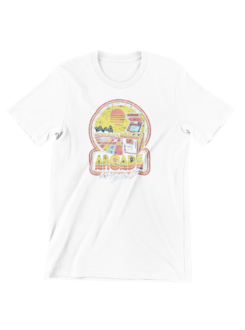 VIRGIN TEEZ T-SHIRT Small / White Arcade Wizard T-Shirt