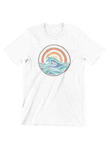 VIRGIN TEEZ T-SHIRT Small / White Campfire Summer T-Shirt