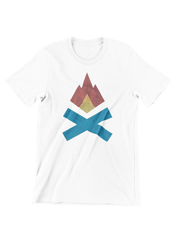 VIRGIN TEEZ T-SHIRT Small / White Campfire T-Shirt