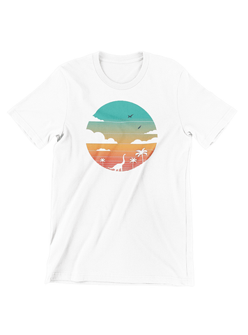 VIRGIN TEEZ T-SHIRT Small / White Cretaceous Sunset T-Shirt