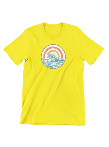 VIRGIN TEEZ T-SHIRT Small / Yellow Campfire Summer T-Shirt