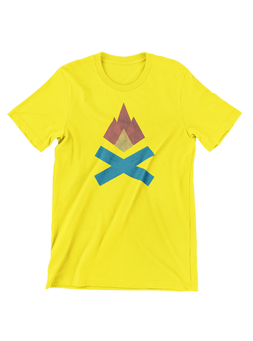 VIRGIN TEEZ T-SHIRT Small / Yellow Campfire T-Shirt