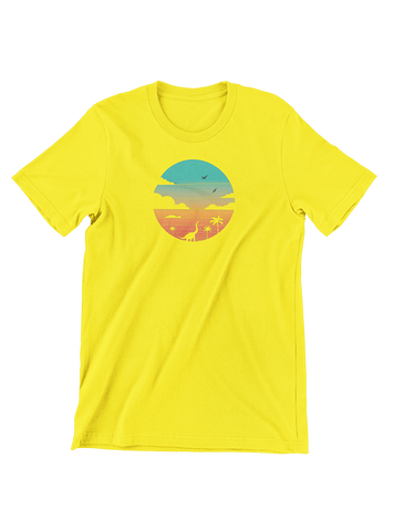VIRGIN TEEZ T-SHIRT Small / Yellow Cretaceous Sunset T-Shirt