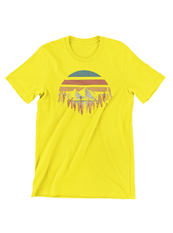 VIRGIN TEEZ T-SHIRT Small / Yellow Deeply Wild T-Shirt