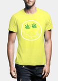 Virgin Teez T-shirt SMALL / Yellow Nirvana Smile Half Sleeves T-shirt