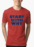 Virgin Teez T-shirt Start With Why Half Sleeves Melange T-shirt