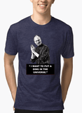 Virgin Teez T-shirt Steve Jobs Half Sleeves Melange T-shirt