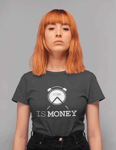 Virgin Teez T-SHIRT Time Is Money Women T-shirt