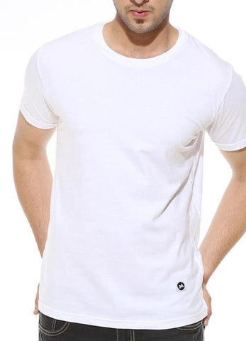 Virgin Teez T-SHIRT White - Men's Plain Half Sleeve T Shirt