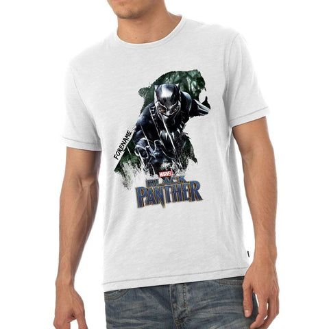 Virgin Teez T-Shirts Marvel Black Panther Double Exposure Mens T-Shirt