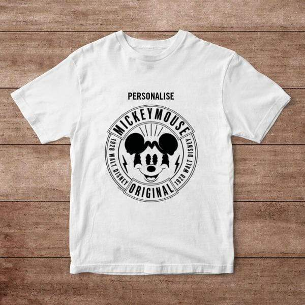 Virgin Teez T-Shirts Mickey Mouse 1928 Original Personalised Adult T-Shirt