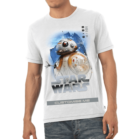 Virgin Teez T-Shirts Star Wars BB-8 Last Jedi Spray Paint Mens T-shirt