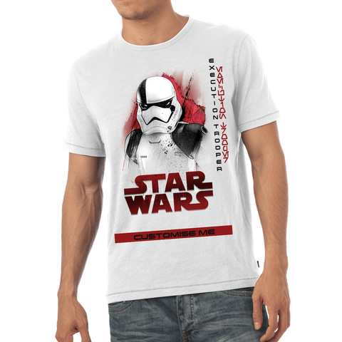 Virgin Teez T-Shirts Star Wars Execution Trooper Last Jedi Spray Paint Mens T-shirt