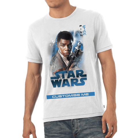 Virgin Teez T-Shirts Star Wars Finn Last Jedi Spray Paint Mens T-shirt