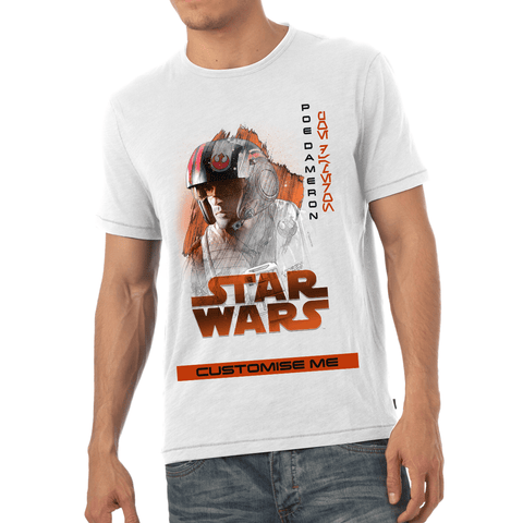 Virgin Teez T-Shirts Star Wars Poe Dameron Last Jedi Spray Paint Mens T-shirt