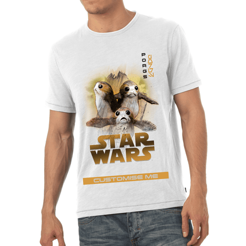 Virgin Teez T-Shirts Star Wars Porg Last Jedi Spray Paint Mens T-shirt