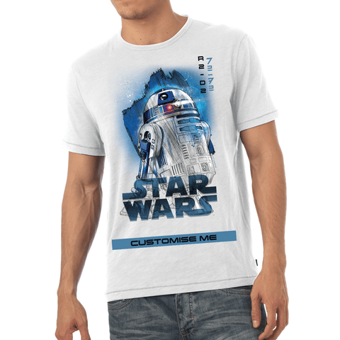 Virgin Teez T-Shirts Star Wars R2-D2 Last Jedi Spray Paint Mens T-shirt