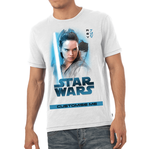 Virgin Teez T-Shirts Star Wars Rey Last Jedi Spray Paint Mens T-shirt
