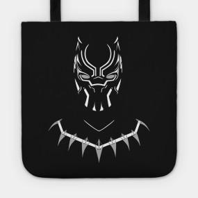 Virgin Teez tote bag Black Panther Tote Bag