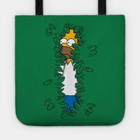 Virgin Teez tote bag Sneaky Hedge Simpsons Tote Bag