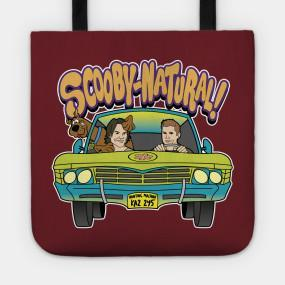 Virgin Teez tote bag Supernatural Mystery Machine Scooby Tote Bag