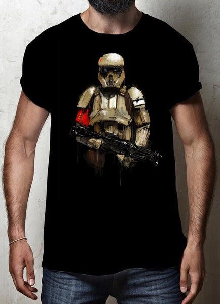 ZAINAB ABBAS T-SHIRT TROOPER 1 BLACK T-SHIRT