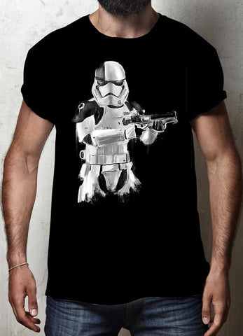 ZAINAB ABBAS T-SHIRT TROOPER BLACK T-SHIRT