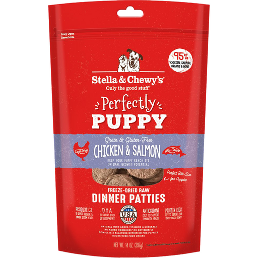 Stella & Chewy's Freeze-Dried Raw Perfectly Puppy Chicken & Salmon Dinner Patties